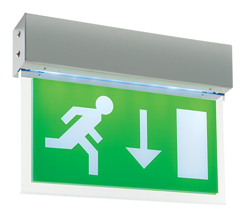 saxby lighting luxway exit down maintained led exit sign