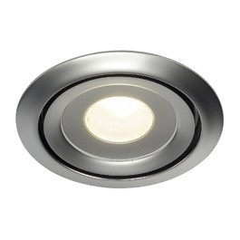 SLV Lighting 115808 Luzo LED Disk Downlight In Matt Chrome