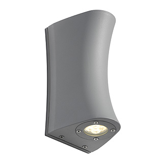 SLV Lighting 227290 Delwa Curve IP44 LED Wall Light