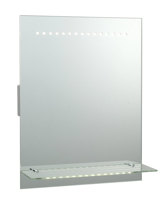 Saxby Lighting 39237 Omega LED Mirror Light With Shaver Socket