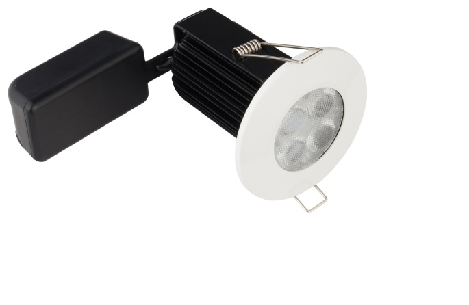 Deltech DEL9WH IP65 9w Dimmable Fire Rated LED Downlight
