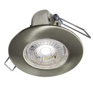 Collingwood H2 Lite Brushed Steel IP65 LED Downlight Warm White
