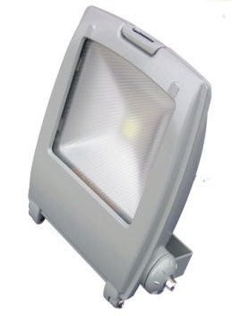 Ultra Compact Grey 10w Warm White LED Floodlight