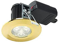 DL/PG/F/NW - Polished Gold LED Downlight In Neutral White