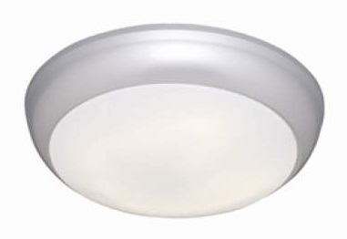 Polo 14w IP54 Emergency LED Bulkhead With Matt Silver Trim
