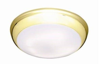 Polo 14w IP54 LED Bulkhead With Brass Trim And Opal Diffuser