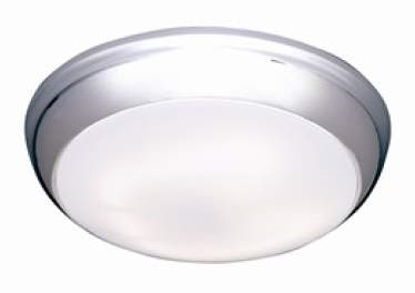 Polo 14w IP54 LED Bulkhead With Chrome Trim And Opal Diffuser